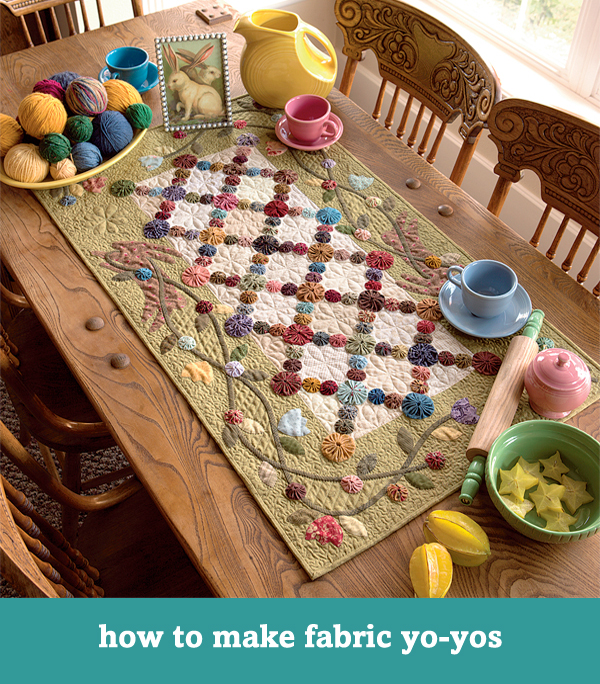 Roundup: Just for fun free quilting tutorials - Stitch This! The ... : yo yo quilt patterns free - Adamdwight.com