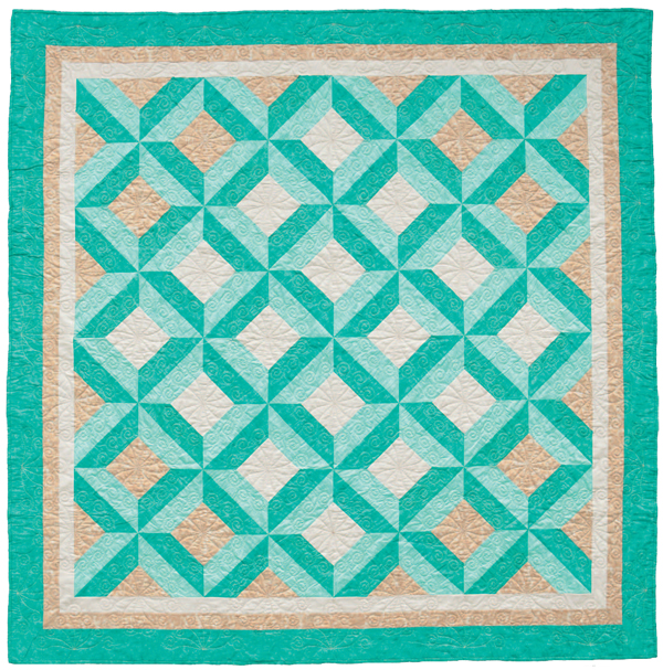 3-D Noughts and Crosses quilt