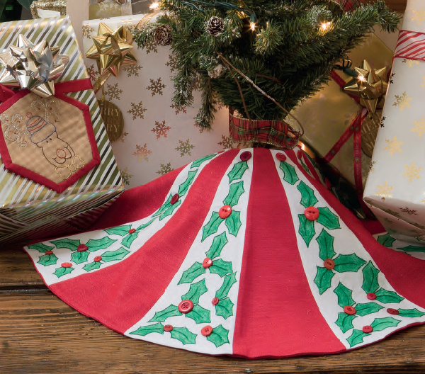 Jolly Holly tree skirt