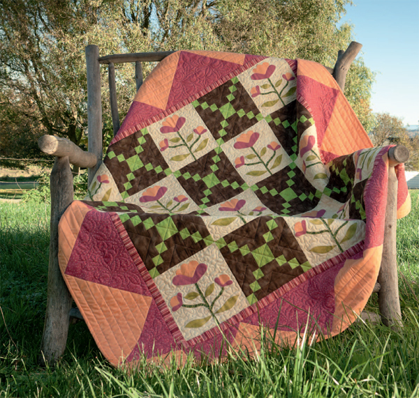 Sunrise in the Farm Garden quilt