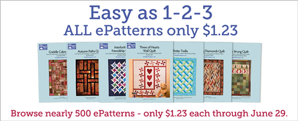 All ePatterns just $1.23 each!