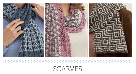 Scarves from Slip-Stitch Knits