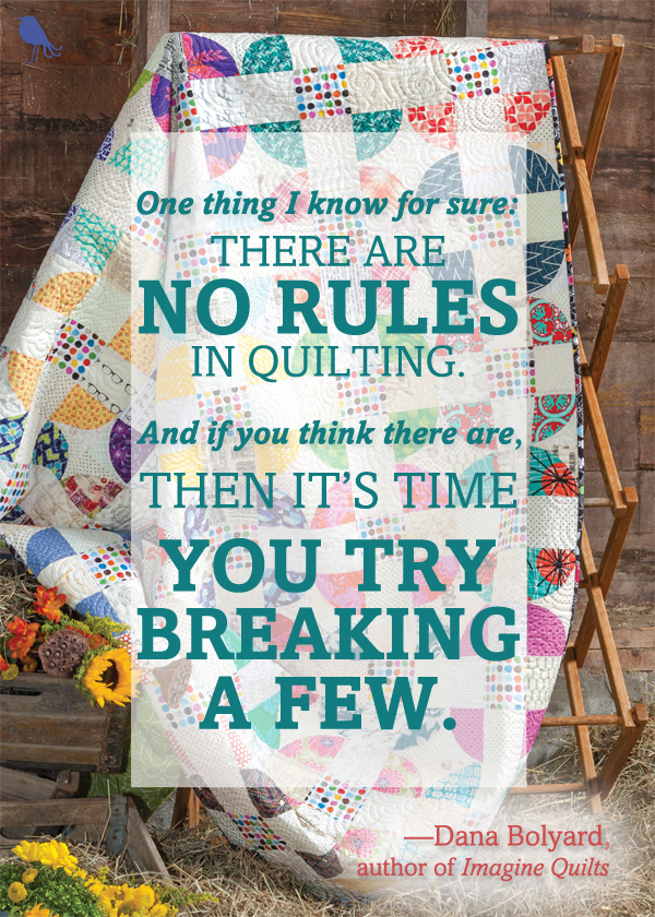 Imagine Quilts quilting quote