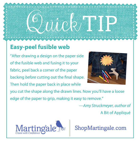 Quick tip for fusible web