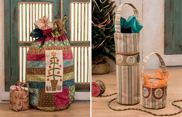 Santa's Satchel and Smal Treasure Totes