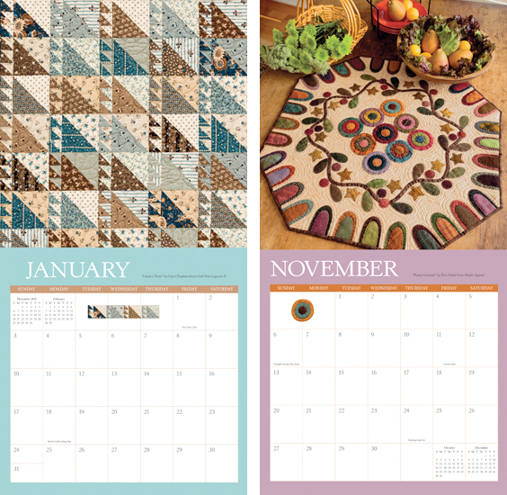 That Patchwork Place Quilt Calendar 2016