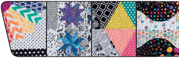 Details of quilts from Splash of Color