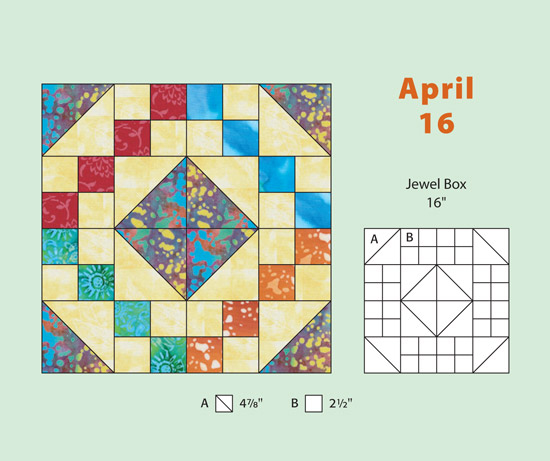 Example from the Quilter's Block-a-Day Calendar