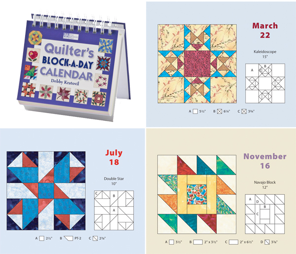 From the Quilter's Block-a-Day Calendar