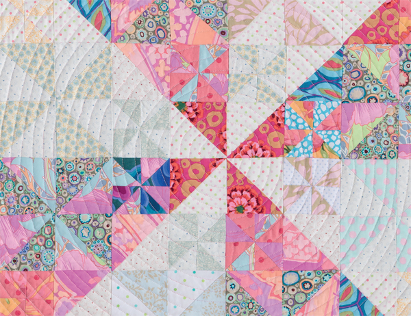 Detail of The Big Spin quilt