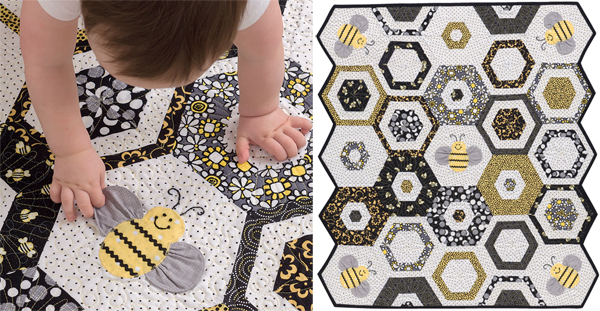 Sweet-as-Can-Bee-baby-quilt