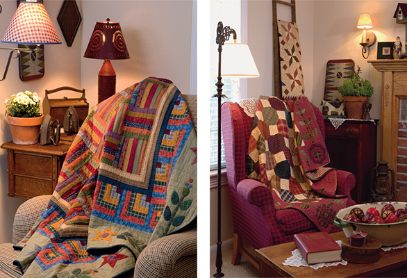 lap quilts from Simple Traditions by Kim Diehl