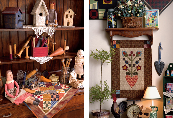Small quilts from Simple Traditions by Kim Diehl