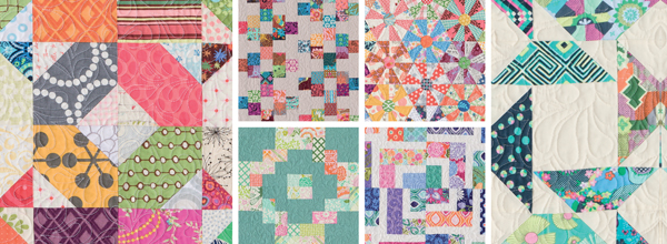 Detail-of-quilts-from-Scrap-Basket-Strips-and-Squares