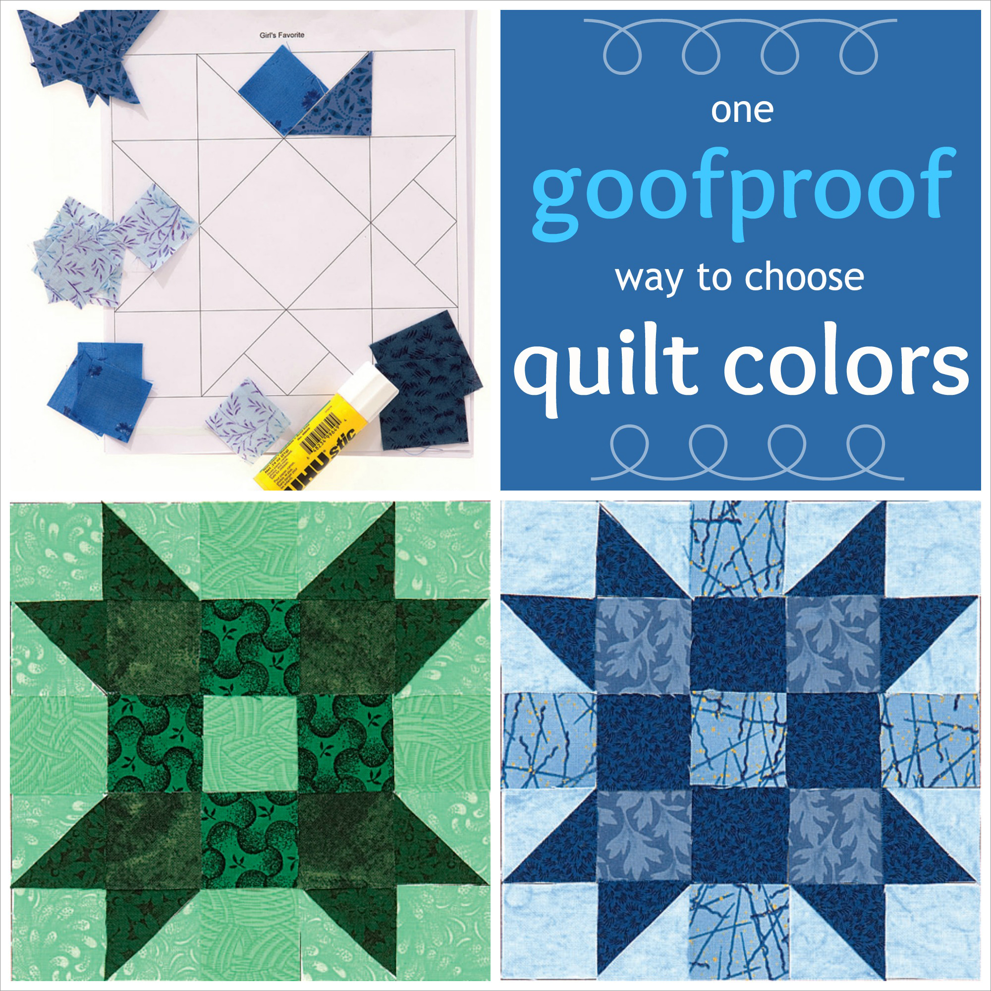 goofproof way to choose quilt colors