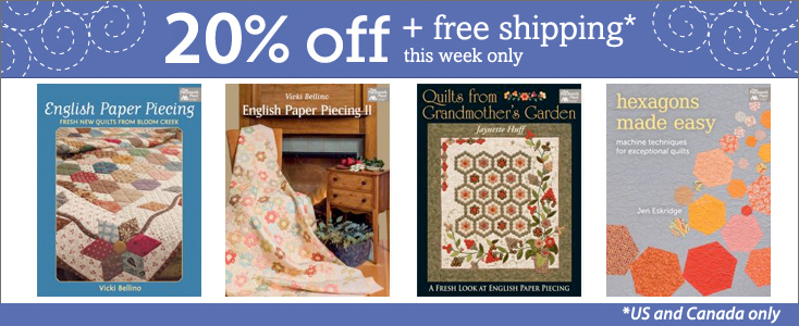 Save 20% on select books this week + free shipping