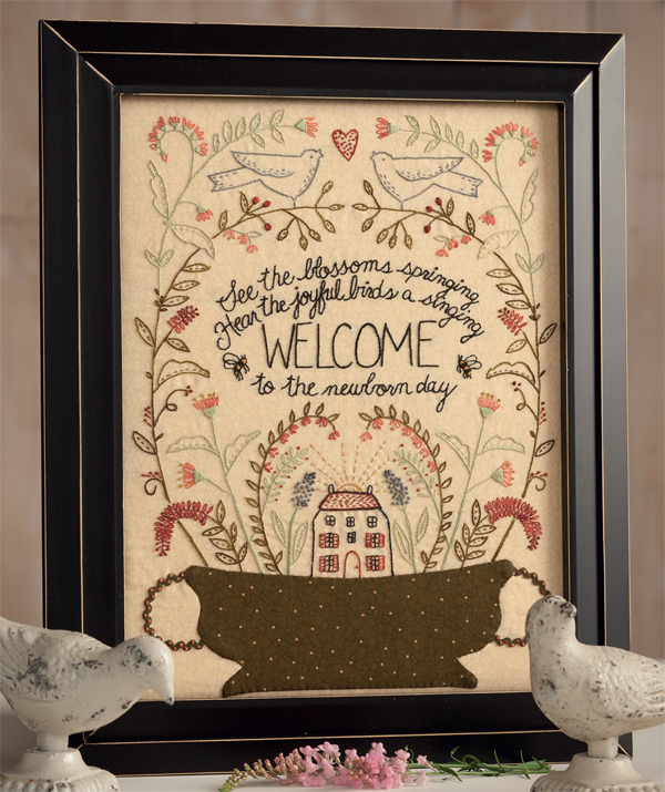 Welcome-framed-embroidery