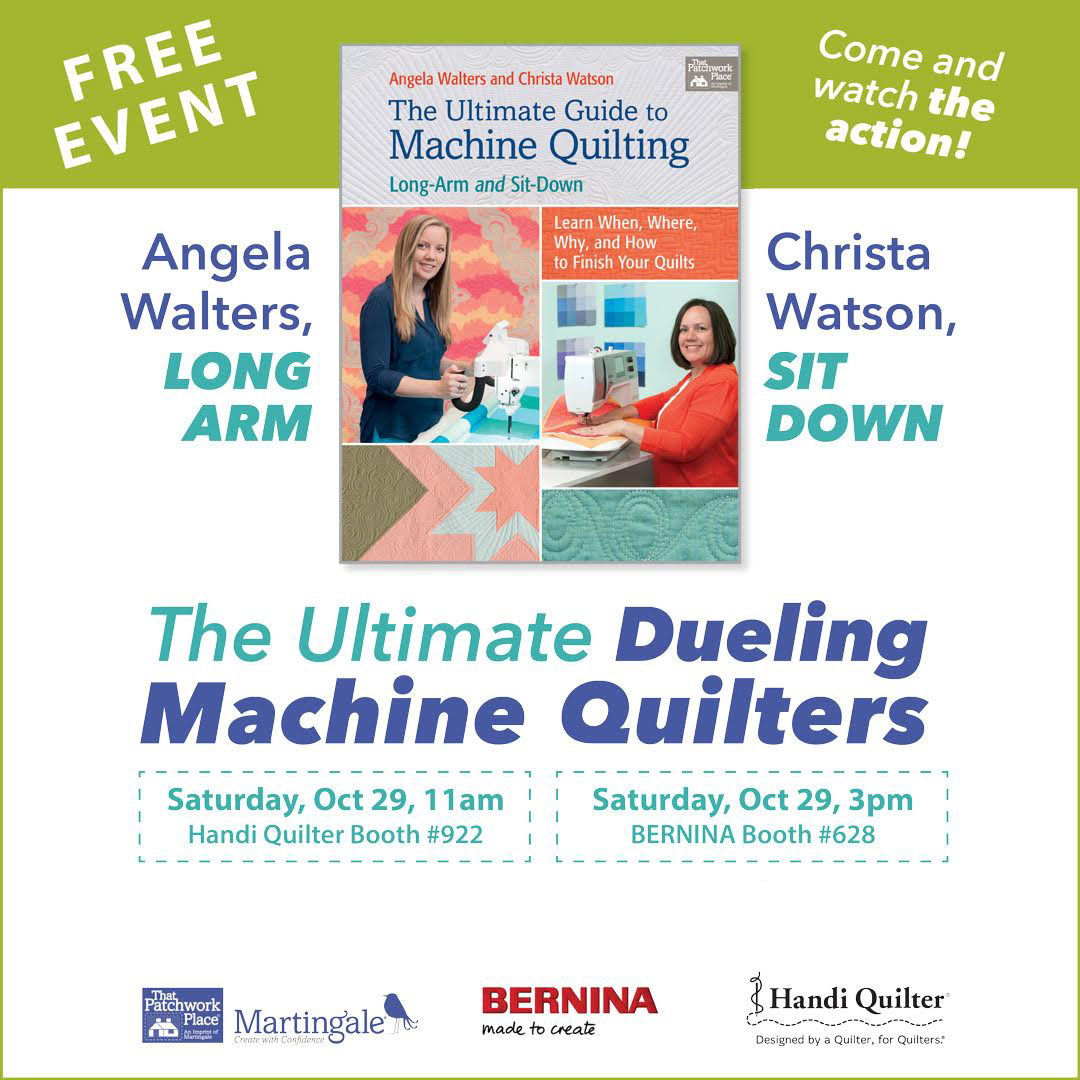 Facebook Live event: The Ultimate Dueling Machine Quilters