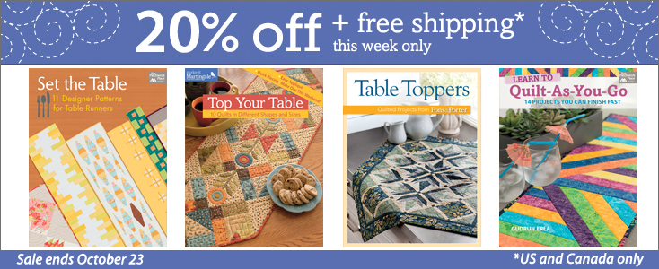 Give Thanks For Fast Fun Table Topper Sewing Sale Stitch