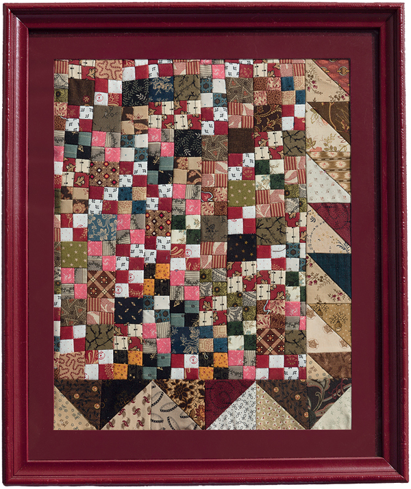 Framed-Double-Four-Patch-quilt