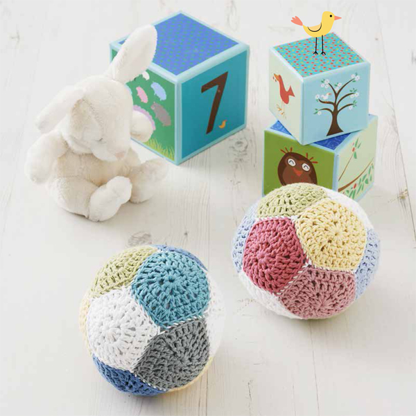 Patchwork-ball-rattles
