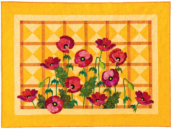 Crepe-Paper Poppies quilt