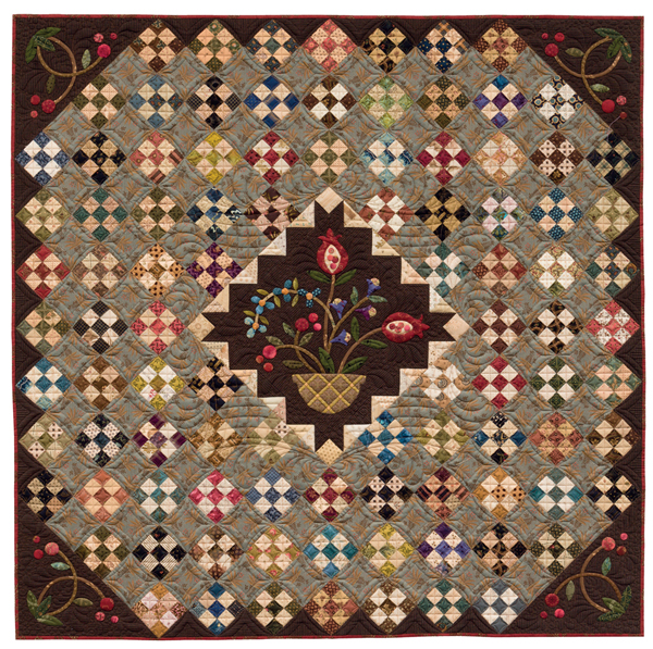 Patches and Pomegranates Nine Patch quilt