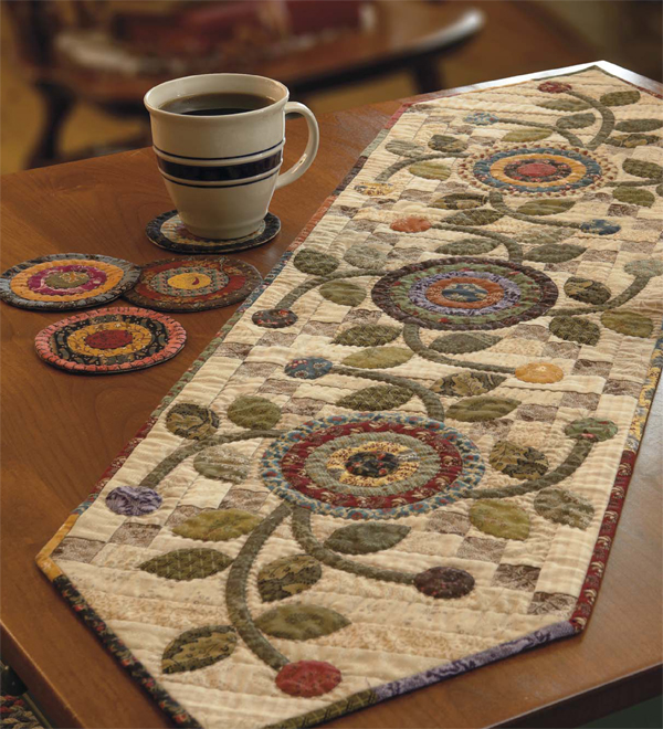 Cottage Garden table runner