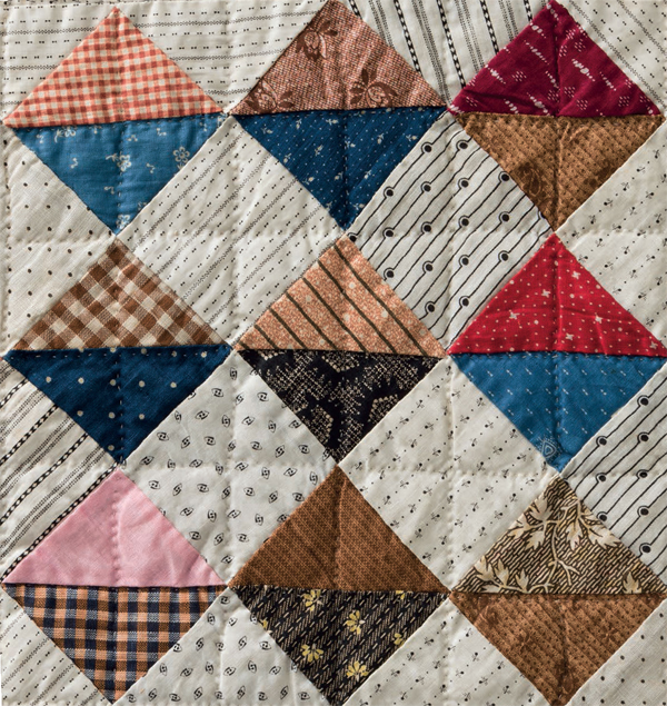 Triangles in a Row quilt