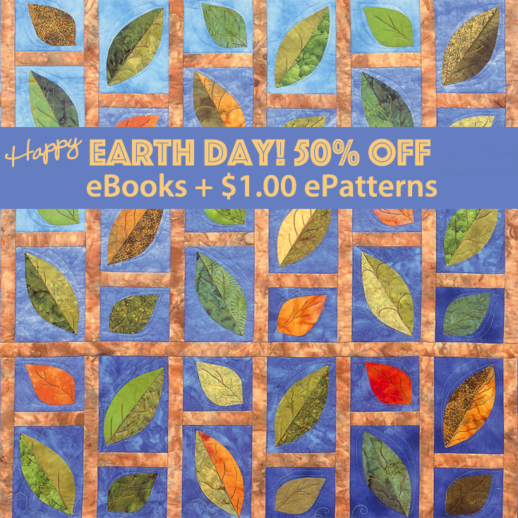 Earth Day sale! Half off eBooks, 1.00 ePatterns