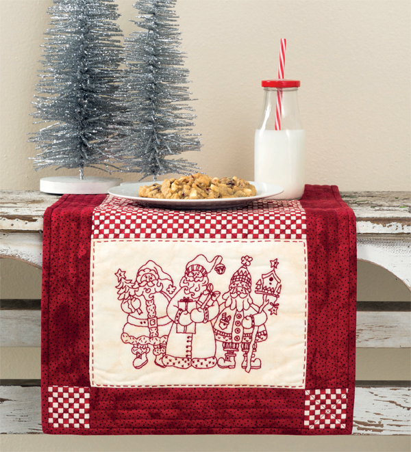 Santa Collector table runner