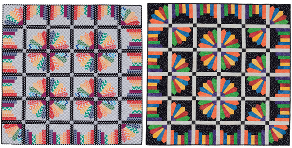 Twirling quilt