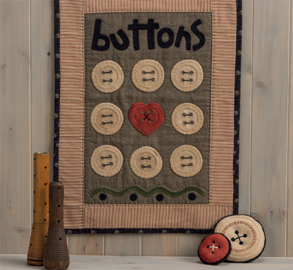 Button Love Wall Hanging