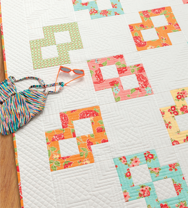 Swimming the Sidestroke fat quarter quilt