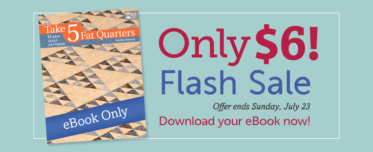 Take 5 Fat Quarters flash sale!