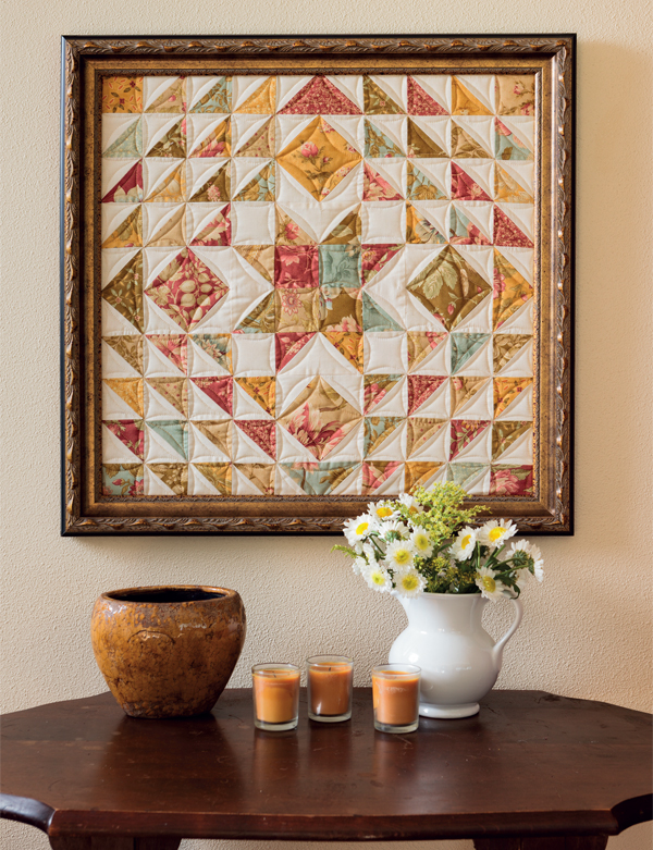 Autumn Star framed quilt