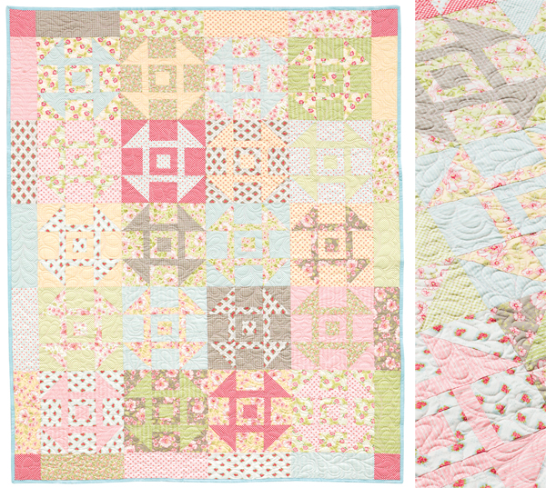 Country Churn Dash quilt