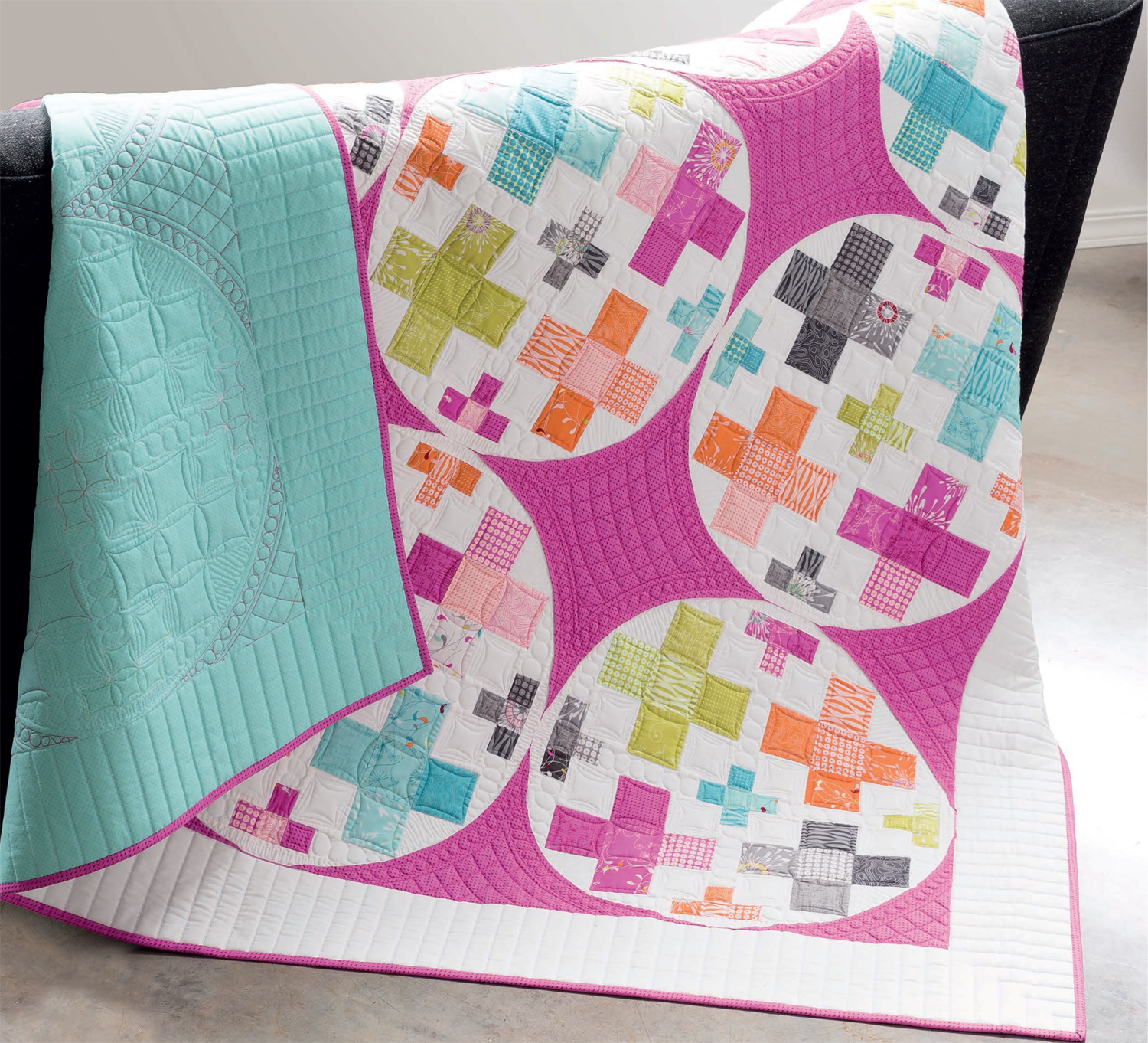 Square Peg in a Round Hole Layer Cake quilt