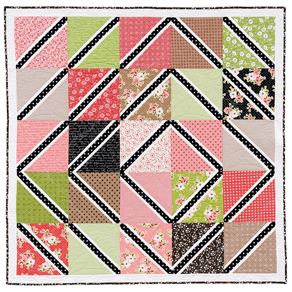 Off-Center Log Cabin quilt
