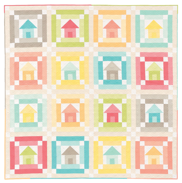Sherbet Town house quilt