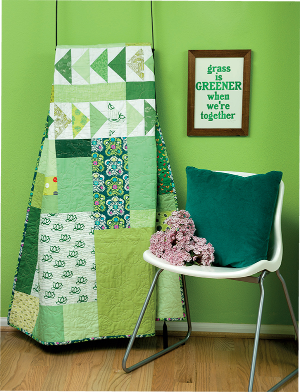 Fields of Green quilt