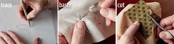 Back-basting applique technique