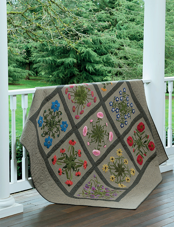 My Cottage Garden quilt