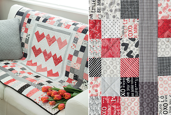 Checkerboard Hearts quilt