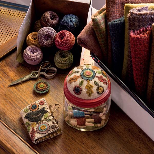 Harvest Song Needle Book and Sewing Jar