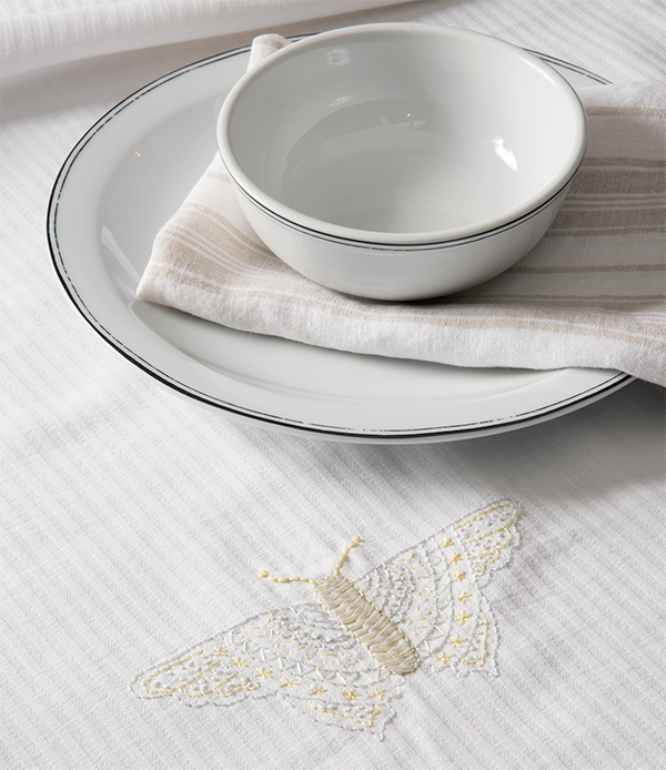 visible mending tablecloth