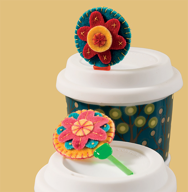 Embellished coffee-cup stoppers