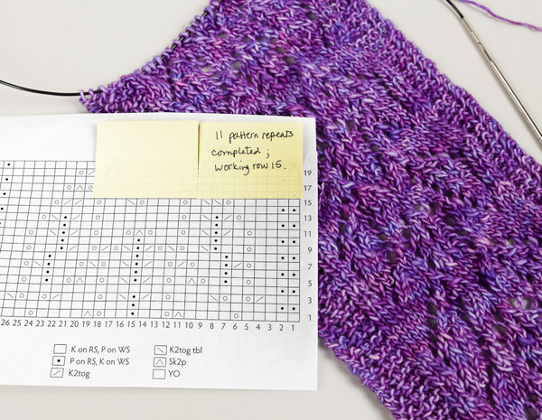 Post-It Notes for knitting charts