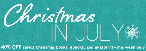 40% off select books, eBooks and ePatterns this week only