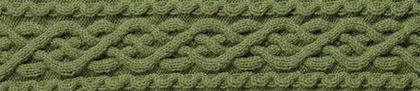 Knitted cable pattern from Cable Confidence